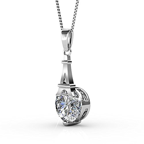 fb3aa457a Cate & Chloe Amazon 2018 Isla 18k White Gold Pendant Necklace with Swarovski  Crystals, Best