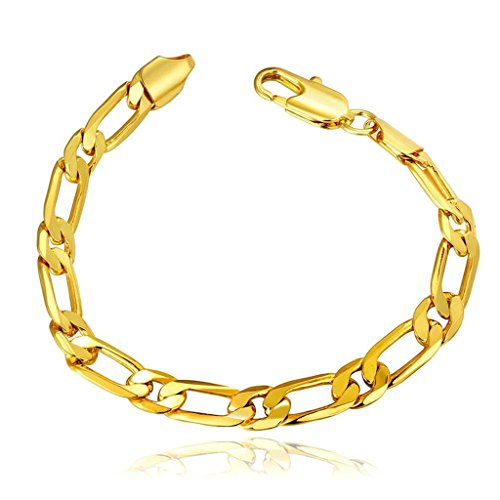 AmDxD Jewerly Gold Plated Men Women Link Bracelet Gold Geometric Chain Bracelet 20CM,as Best Gift (Adult African King Costume)