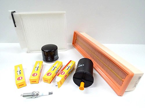 Premium Service Kit 1.2 16V 75HP 05.2007-04.2009 Air Cabin Fuel Oil Filters & Spark Plugs: