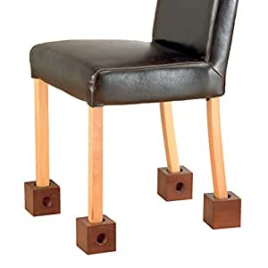 Patterson Medical 091088855 - Cubos elevadores para silla (madera)