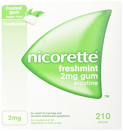 Nicorette GUM Freshmint 2mg 210 Count Box