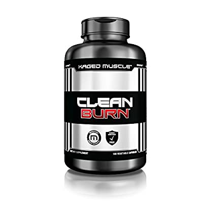 CLEAN BURN Stimulant-Free Fat Burner, Weight Loss Supplement & Appetite Suppressant for Men & Women, 180 Veggie Diet Pills