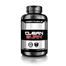 CLEAN BURN Thermogenic Fat Burner  –  Premium Fat-Loss Supplement & L – Carnitine  – Unflavored – 180 Veggie Capsules – Burn Fat and Lose Weight Faster*