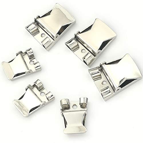 Bolo tie Buckle Accessories 6pcs (2 Size Mix) ()