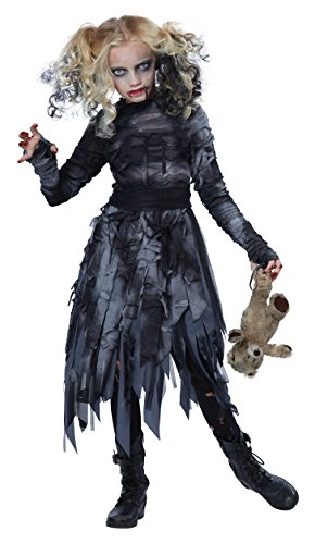 California Costumes Zombie Girl Child Costume, Medium (Scary Woman Halloween Costume)