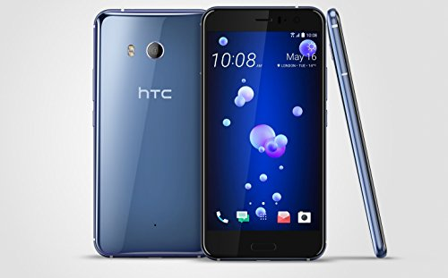 HTC U11 128GB Dual SIM MODEL - Factory Unlocked Phone - International Version - GSM ONLY, NO WARRANTY in the US (Amazing Silver)