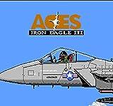ASMGroup 60 Pin 8 Bit Game Game Cartridge - Aces - Iron Eagle 3 60 Pin Cartridge Game Card For 8 Bit Game Player