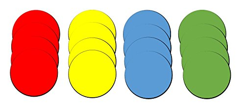 (Flexible Round Magnets in Assorted Colors a for Whiteboard, Refrigerator, Locker or Office - 16 Pack, 1 Inch Diameter)