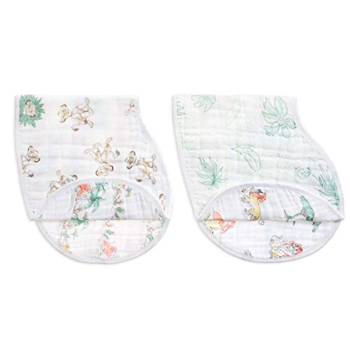 aden + anais Classic Burpy Bib, 100% Cotton Muslin, Soft Absorbent 4 Layers, Multi-Use Burp Cloth and Bib, 22.5