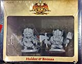Haldor And Brenna Arcadia Quest Miniatures CMoN