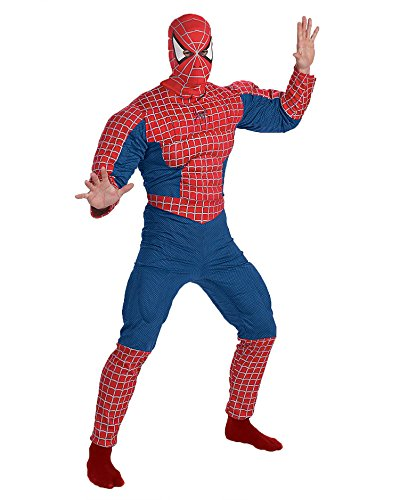Spiderman Costume Muscle Chest Peter Parker Marvel Comics Superhero Costumes Sizes: One Size