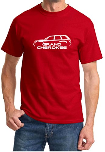 2008-11 Jeep Grand Cherokee Classic Outline Design Tshirt 2XL red (95 Jeep Grand Cherokee Crank Position Sensor Location)