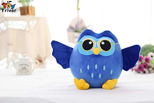 WATOP Stuffed Animals - Teddy Bears | Soft Plush Cartoon Blue Grey Purple owl Toy Stuffed Doll Creative Children Kids Baby Birthday Kawaii Dolls Gift Home Shop Decor