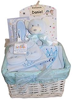 Canastilla recien nacido - Esencial basica azul - Cesta regalo ...