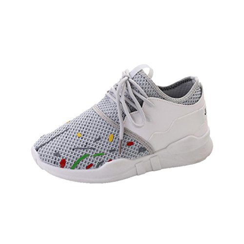 Shoes Shoes Net Shoes Leisure Sports Shoes Casual Female Mesh Shoes Gray Breathable Female Slip Lacing Casual Surface Flat Summer On Sneakers Women Shoes Bovake Fashion 6EqRB