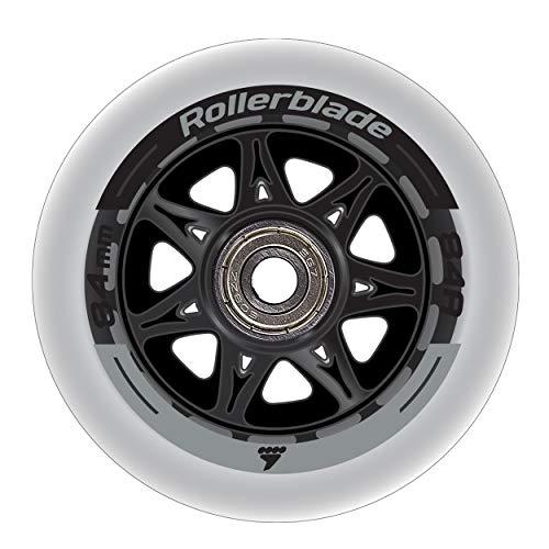 Rollerblade Wheelkit 84mm 84A, SG7 Bearings, 8 Pack, Clear, US Unisex ST ()