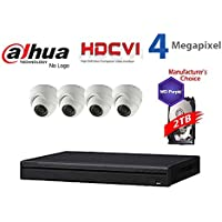 Dahua 4MP Tribrid Security Package: 8CH 4MP Tribrid HCVR7108 (CVI AND IP and Analog ) w/2TB Security Hard Drive + (4) 4MP Outdoor HDCVI WDR IR HDW2401 3.6MM Eyeball (NO LOGO OEM Local Support)