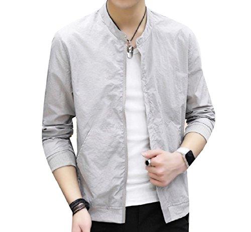 Howme Full Zip Juniors Jacket Coat Vogue Fitness Pure Grey Colour Men 1r1xa4