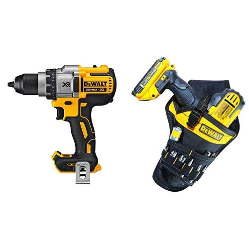 DEWALT DCD991B 20V MAX XR Lithium Ion Brushless 3-Speed Drill/Driver (Tool Only) with DG5120 Heavy-duty Drill Holster