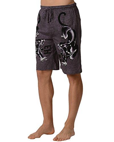 Ed Hardy Men's Panther Lounge Shorts - Black Rock Desert - -