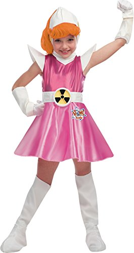 Girls Atomic Betty Deluxe Kids Child Fancy Dress Party Halloween Costume, S (4-6)