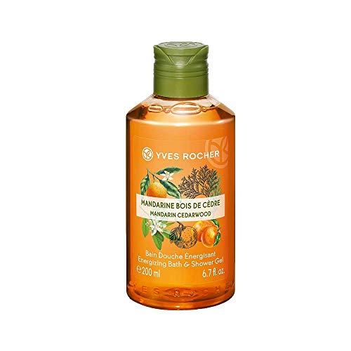 Yves Rocher Les Plaisirs Nature Energizing Bath & Shower Gel - Mandarin Cedar Wood (6.7 fl.oz.)