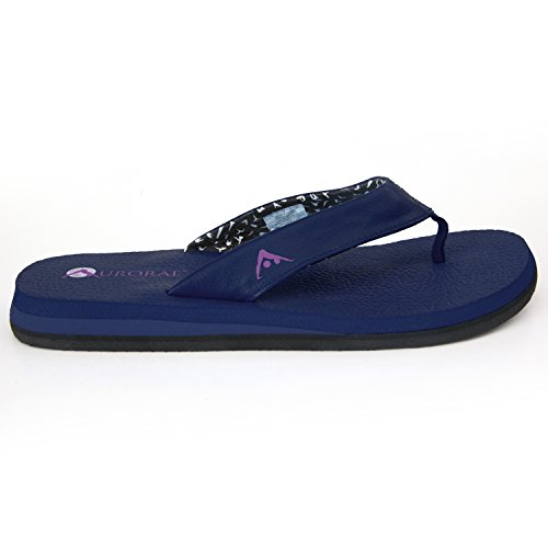 Aurorae Women's Yoga Mat Flip Flop, Midnight, 9 B(M) US
