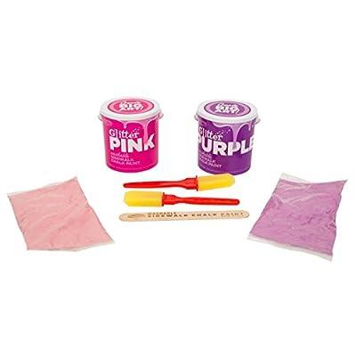 RoseArt Washable Sidewalk Chalk Paint 2ct Glitter Pnk/purp: Toys & Games