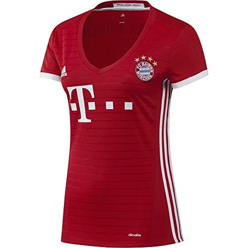 adidas Damen Fußball/Heim FC Bayern München Replica Trikot, Fcb True Red/White, L