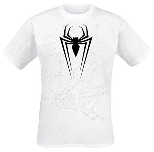 Tshirt hombre Web blanco xs Abystyle Spiderman Marvel para 8qnTtO