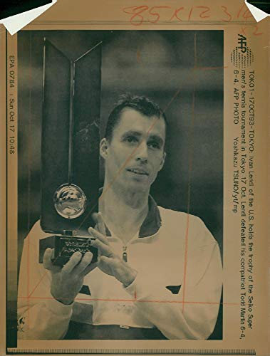 Vintage photo of ivan lendl in his first tournament win -
