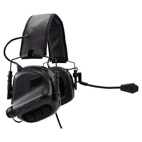 ooting Earmuffs - Communication Ear Hearing Protection - Noise Reduction Headphone NRR 22 - Protector for Tactical uses Military Connector ()