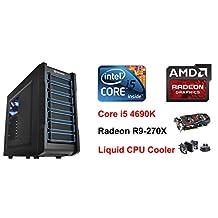 i5 4690K Radeon R9-270X Graphics Windows 10 Liquid Cooling Computer