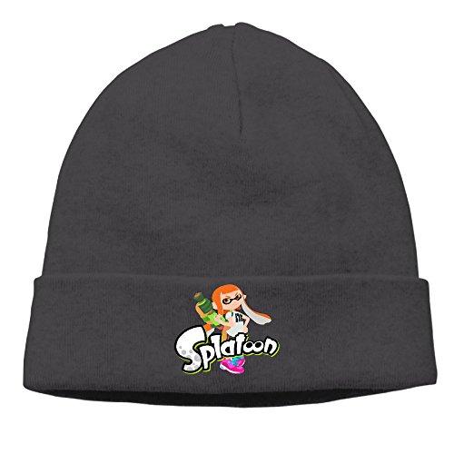 EWIED Men's&Women's Splatoon Game Patch Beanie MountaineeringBlack Cap Hat For Autumn And Winter ()