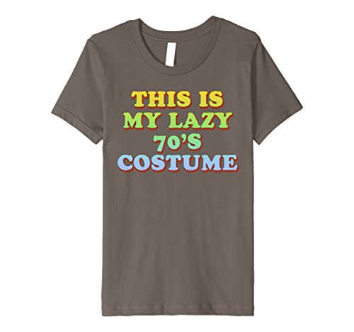 [Kids This Is My Lazy 70's Costume T-Shirt Easy Halloween Tee 6 Asphalt] (70's Costume Ideas For Kids)
