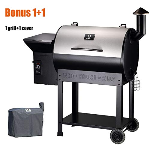 Z GRILLS Wood Pellet Grill & Smoker with Upgraded Cart 702 sq. in Grill Master Essential Barbecue Grill with Electric Digital Controls...