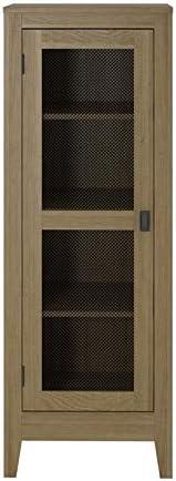 SystemBuild Storage Cabinet with Mesh Door in Golden Oak