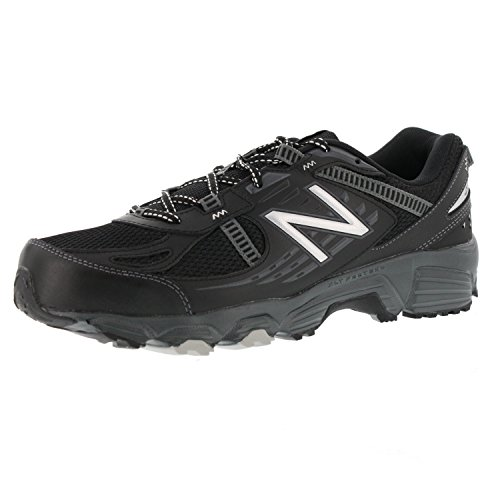 New Balance Men's MT410BS4 Trail Shoe, Black/Silver, 10 4E US