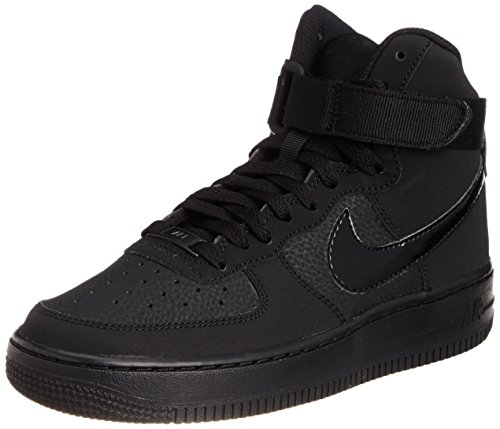 Af1 High Shoes - Nike Kids Air Force 1 High (GS) Black/Black/Black Basketball Shoe 6 Kids US