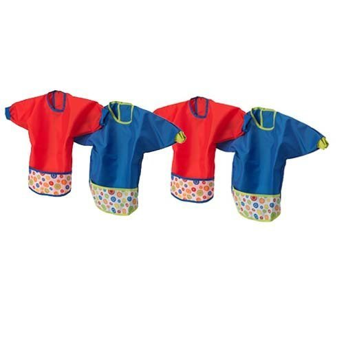 Ikea Kladd Prickar Baby Bib Set with Sleaves, 4 Pack by Chadamyi