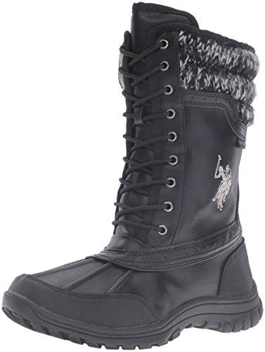 2016 Winter Fashion Women Winter Boots Shoes (Black) - 6