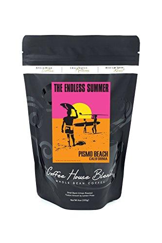 Pismo Beach, California - The Endless Summer - Original Movie Poster (8oz Whole Bean Small Batch Artisan Coffee - Bold & Strong Medium Dark Roast w/ Artwork) by Lantern Press