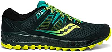 Saucony Men's Peregrine ISO Road Running Shoe, Green/Teal, 7 M US
