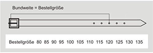 Pierre Cardin Gürtel Herren Ledergürtel Herren/Gürtel Herren, Rindleder-Gürtel bombiert, schwarz, Größe/Size:100, Farbe/Color:schwarz