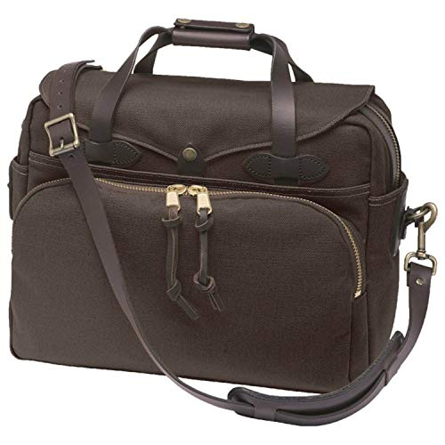 Filson Twill Padded Laptop Briefcase Brown, One Size - Filson Laptop Bag