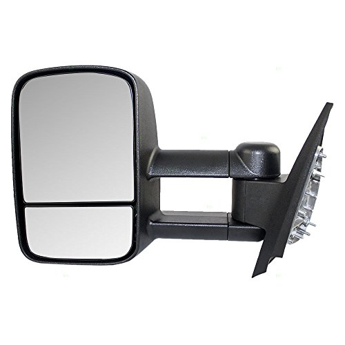Drivers Manual Telescopic Tow Side View Mirror Replacement for Chevrolet GMC Cadillac SUV Pickup Truck 20862094