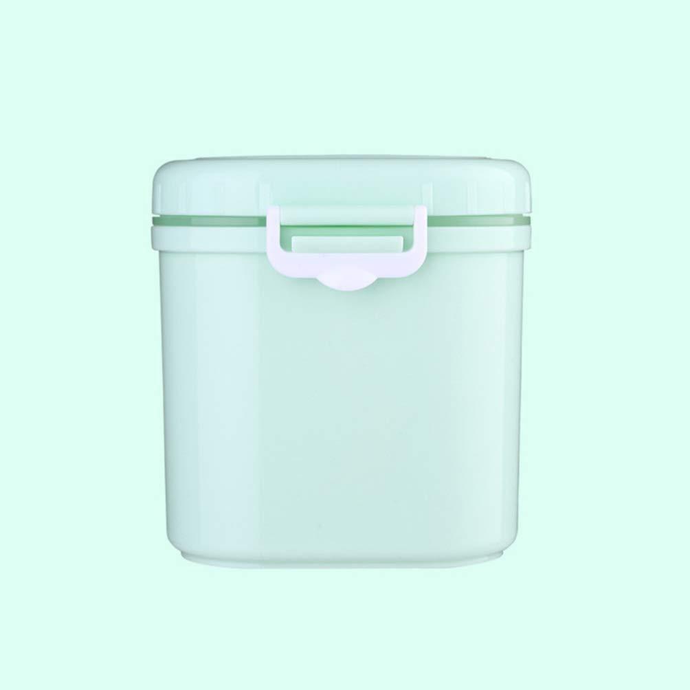 NUOBESTY dispensador de f/órmula con cuchara recipiente de leche en polvo almacenamiento de alimentos caja de frutas dulces bocadillo contenedor para beb/és ni/ños peque/ños ni/ños viajan talla azul l