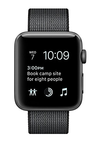Apple Watch Series 2 38mm Smartwatch (Space Gray Aluminum Case, Black Woven Nylon Band) by Apple