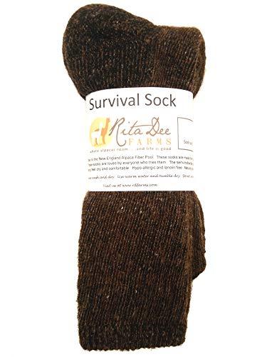 Survival Alpaca Socks: Warm, soft, durable, thermal winter socks by Rita D Farms