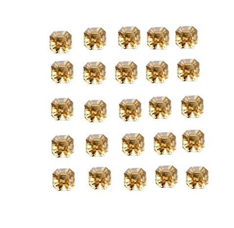 8mm Natural Citrine Quartz Asscher Cut square octagon Gemstone, 2 Piece Pink yellow citrine gemstone square octagon calibrated gemstone